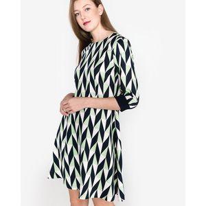 SELECTED Rikki Sukienka Niebieski Zielony Biały obraz