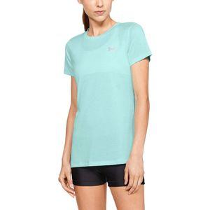 Under Armour Tech™ Twist Koszulka Niebieski Zielony obraz
