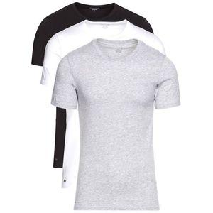 Lacoste 3-pack Dolna koszulka Czarny Biały Szary obraz