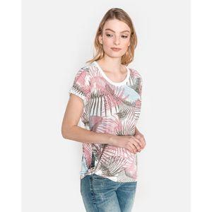 G-Star RAW Yiva Koszulka Różowy Biały Beżowy obraz