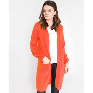 Vila Ril Cardigan Czerwony Pomarańczowy obraz