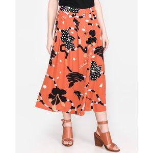 SELECTED Kiara Spódnica Czerwony Pomarańczowy obraz