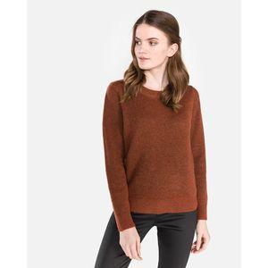 SELECTED Enva Sweter Czerwony Brązowy obraz