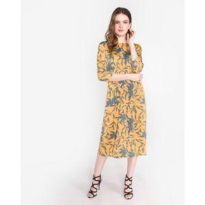 Vero Moda Olivia Sukienka Żółty Pomarańczowy obraz