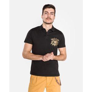 Versace Jeans Polo Koszulka Czarny obraz