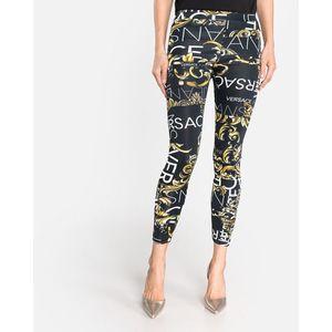 Versace Jeans Legginsy Czarny obraz
