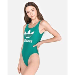 d27d2a0002d9e5 Adidas Originals Trefoil Kostium kąpielowy jednoczęściowy Zielony ...