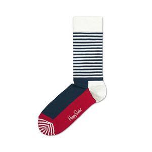 Happy Socks Half stripe Skarpetki Niebieski Czerwony Biały obraz