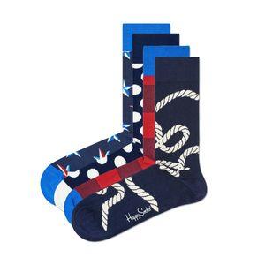 Happy Socks Nautical Ponožky 4 pary Niebieski Czerwony obraz