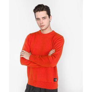Calvin Klein Sweter Czerwony Pomarańczowy obraz