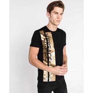 Versace Jeans Koszulka Czarny Złoty obraz