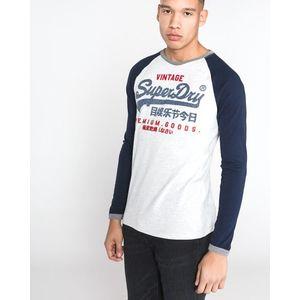 SuperDry Koszulka Niebieski Szary obraz