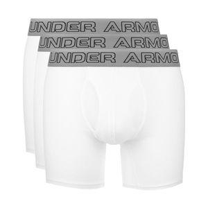 "Under Armour Charged Cotton® Stretch 6"" 3-pack Bokserki Biały obraz"