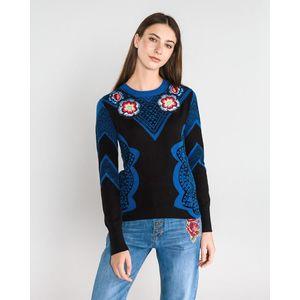 Desigual Duo Sweter Niebieski obraz