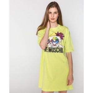 Love Moschino Sukienka Żółty obraz