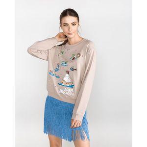 Love Moschino Bluza Brązowy Beżowy obraz