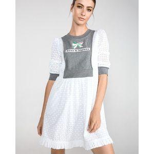 Love Moschino Sukienka Biały Szary obraz