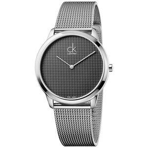 Calvin Klein Minimal Zegarek Czarny Srebrny obraz