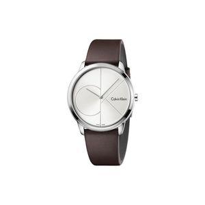 Calvin Klein Minimal Zegarek Brązowy Srebrny obraz
