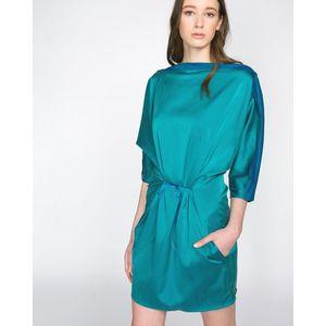 Jakub Polanka x Bibloo Absynthe. Sukienka Niebieski Zielony obraz