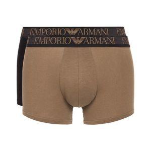 Emporio Armani 2-pack Bokserki Czarny Brązowy obraz