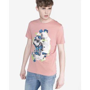 Jack & Jones Art Bouquet Koszulka Różowy Beżowy obraz