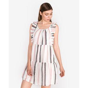 Vero Moda Tavi Sukienka Biały Beżowy obraz