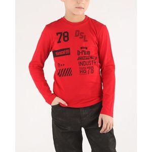 Diesel Tiago Koszulka dziecięce Czerwony obraz