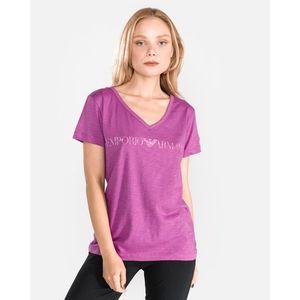Emporio Armani Koszulka do spania Różowy Fioletowy obraz