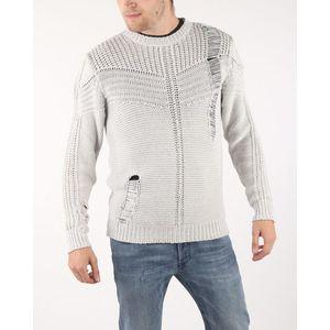 Diesel K-Cage Sweter Biały Szary obraz
