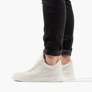 Buty męskie sneakersy Filling Pieces Low Top Plain Lane Nubuck White 29726291901PMZ obraz