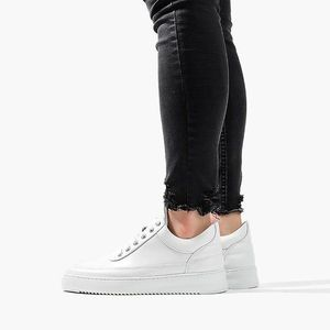 Buty damskie sneakersy Filling Pieces Low Top Ripple Lane Nappa All White 25121721855PFH obraz