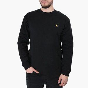 Koszulka męska Longsleeve Carhartt WIP Chase I026392 BLACK/GOLD obraz