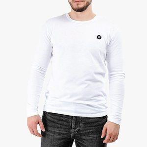 Koszulka męska Longsleeve Wood Wood Mel Double A 10005402-2323 BRIGHT WHITE obraz