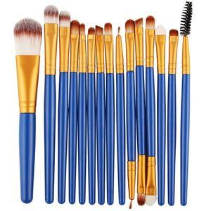 Pędzle do makijażu Lola - Niebieski/Złoty KP4511 obraz