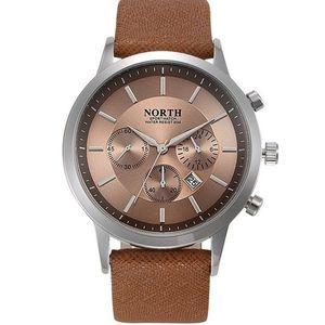 Zegarek męski NORTH - Brązowy obraz