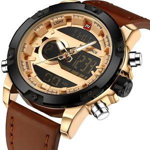 Zegarek NAVIFORCE Gentleman - Brązowy/Złoty obraz
