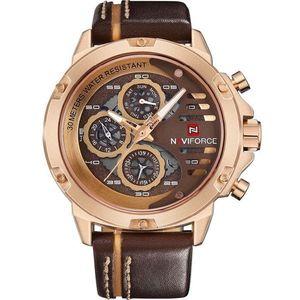 Zegarek NAVIFORCE Professional - Brązowy/Złoty obraz