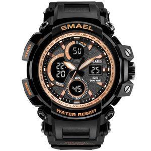 Zegarek SMAEL TEL - Czarny/Złoty obraz