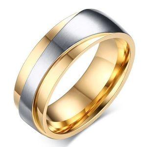 Pierścień męski Promise - Złoty/Sr./57mm KP4855 obraz
