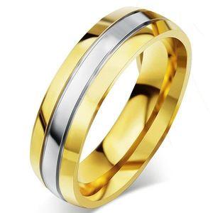 Pierścień męski Fidelity - Złoty/49mm KP4933 obraz