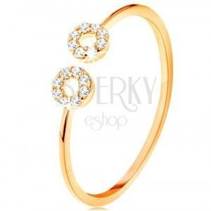Złote pierścionki obraz