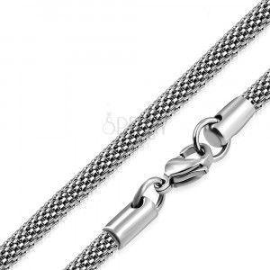 Łańcuszek srebrnego koloru ze stali - motyw siatki, 4, 2 mm obraz