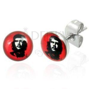 Stalowe kolczyki Che Guevara 7 mm obraz