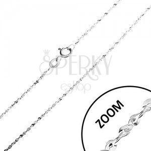 Srebrny łańcuszek 925, spirala z ogniw w kształcie litery S, 1, 3 mm obraz
