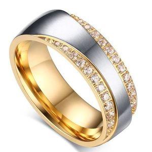 Pierścień damski Promise - Złoty/Sr./49mm KP4860 obraz