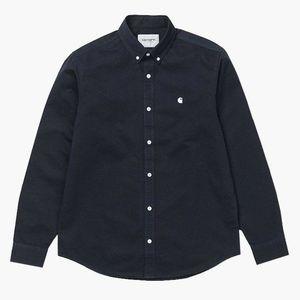 Koszula męska Carhartt WIP Madison Shirt I023339 DARK NAVY/WHITE obraz