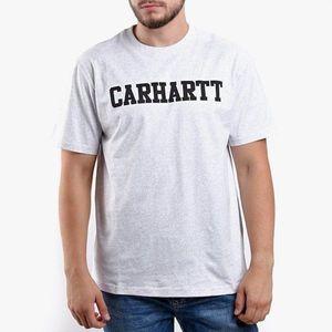 Koszulka męska Carhartt College T-Shirt I024772 ASH HEATHER/BLACK obraz