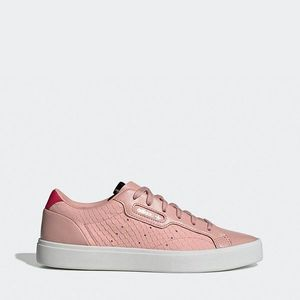 Różowe sneakersy damskie obraz