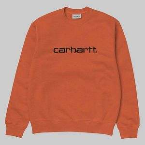 Bluza męska Carhartt WIP Sweatshirt I027092 BRICK ORANGE/BLACK obraz